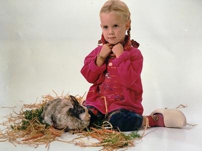 Georgina en haar konijn