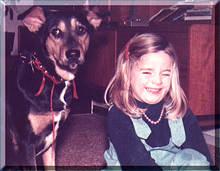 Nienke met haar eerste hondje