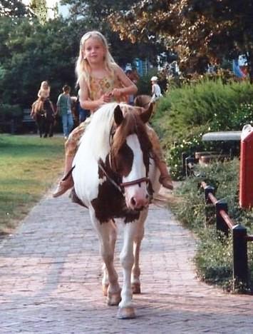 Georgina met haar paard