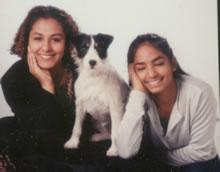 Rebecca met haar zus