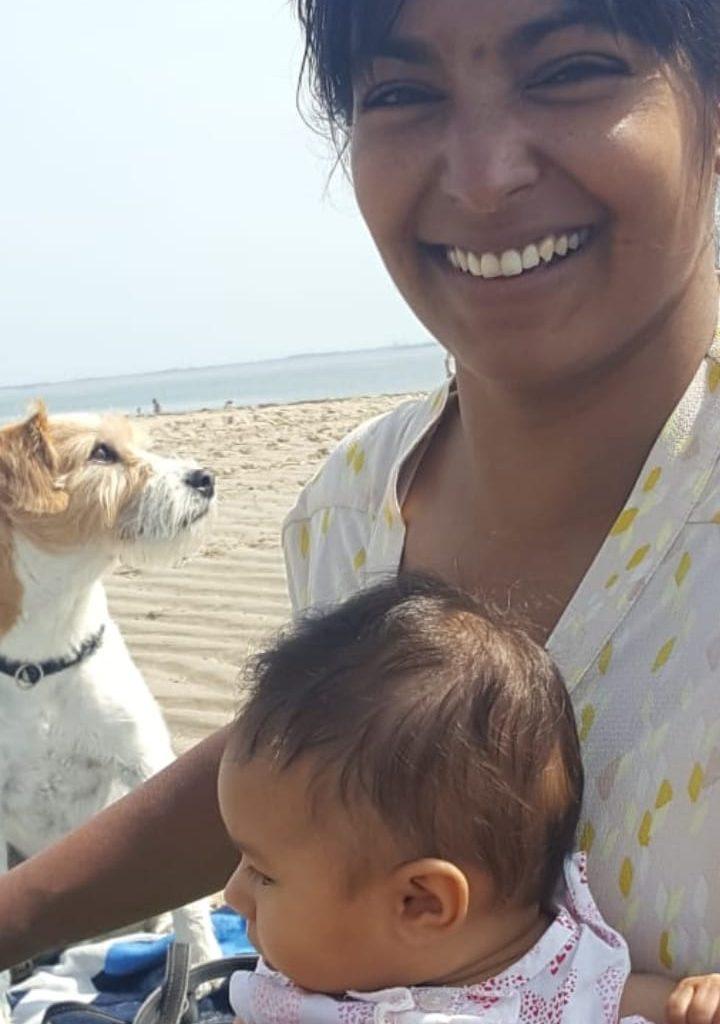 Wij Rebecca Milou strand