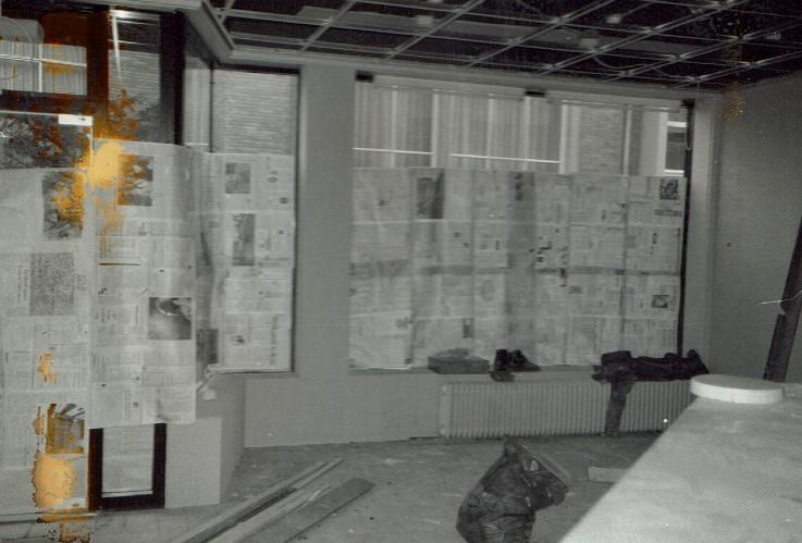 Geschiedenis verbouwing wachtkamer kranten