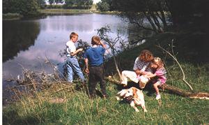 Yvon met kinderen